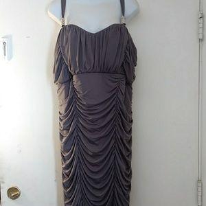 Pompous Girly Gray Elegant Dress Plus Size 20W